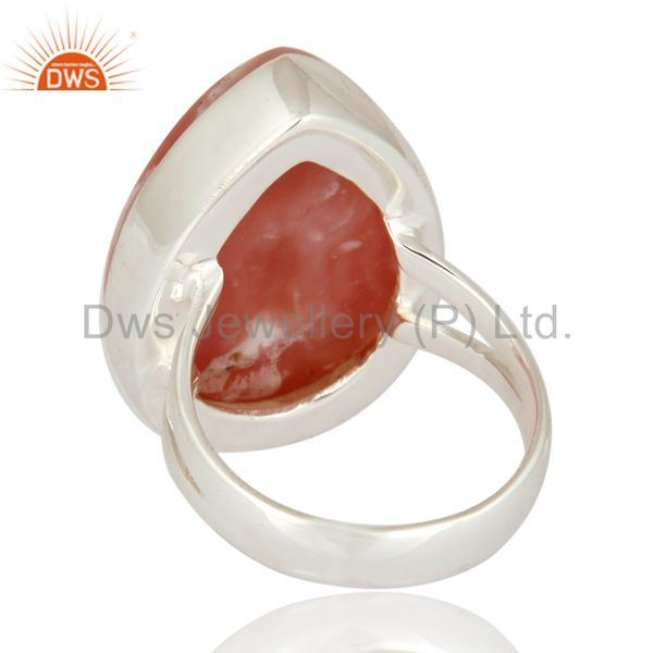 Suppliers Natural Pink Opal Gemstone Solid 925 Sterling Silver Handmade Ring