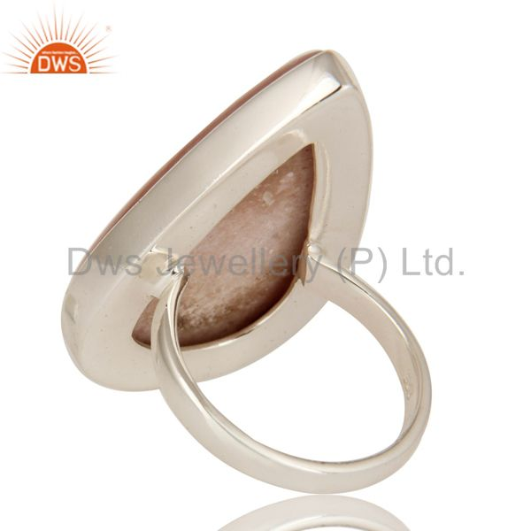 Suppliers Natural Pink Opal Gemstone Sterling Silver Handmade Statement Ring