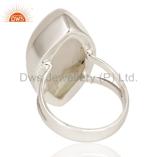 Suppliers Natural Rainbow Moonstone Bezel Set Ring Made In Sterling Silver