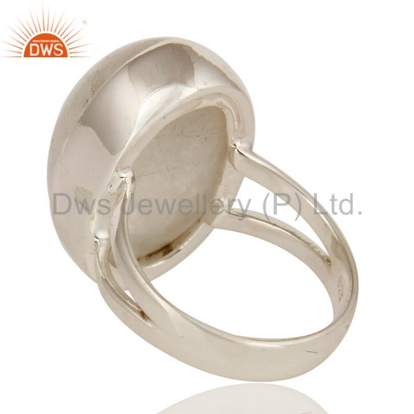 Suppliers Natural Rainbow Moonstone Statement Ring Made in Sterling Silver