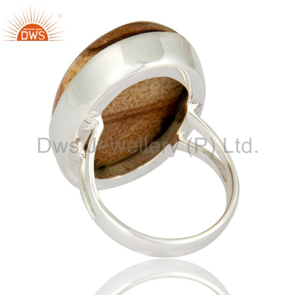 Suppliers Natural Picture Jasper Gemstone Solid 925 Sterling Silver Artisan Ring