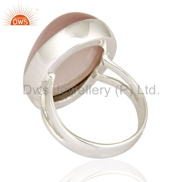 Suppliers Artisan Handcrafted Genuine Sterling Silver Ring With Natural Rose Quartz
