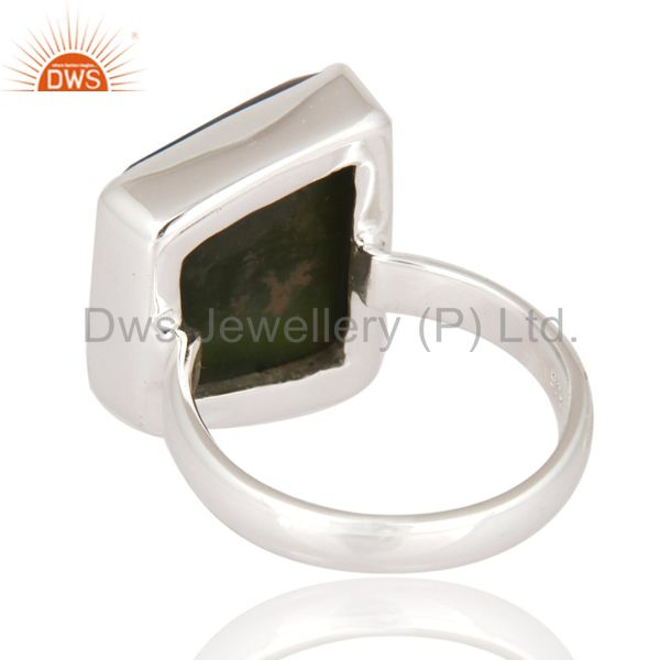 Suppliers Natural Semi-precious Stone Vasonite 925 Sterling Silver Statement Ring