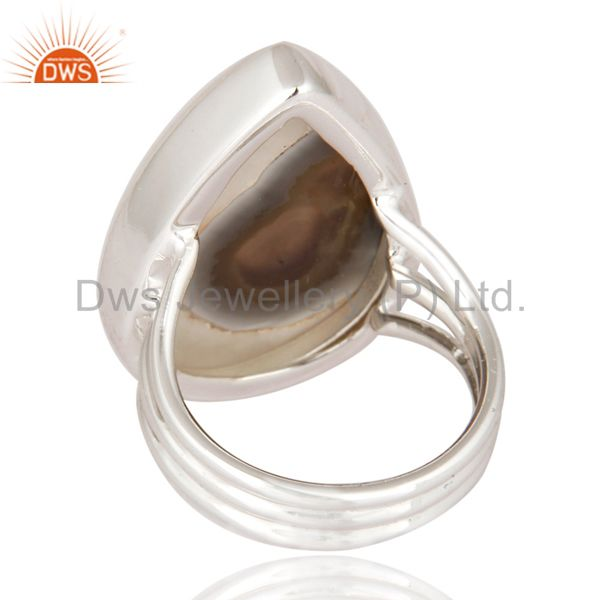 Suppliers Handmade Solid 925 Sterling Silver Jewelry Ring With Natural Solar Quartz