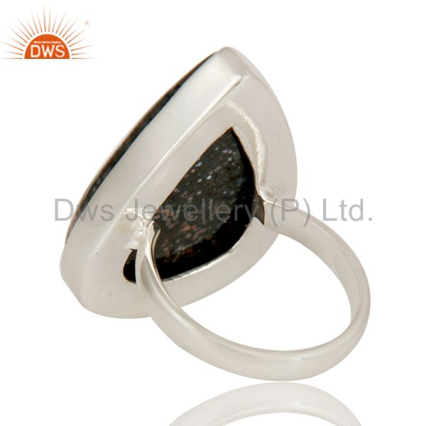Suppliers Handmade 925 Sterling Silver Ocean Jasper Gemstone Bezel Set Cocktail Ring