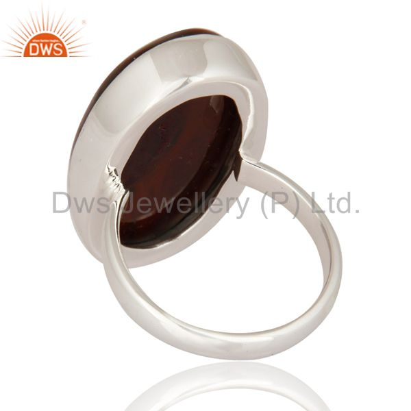 Suppliers 925 Sterling Silver Bloodstone Bezel-Set Ring - Fine Gemstone Jewelry
