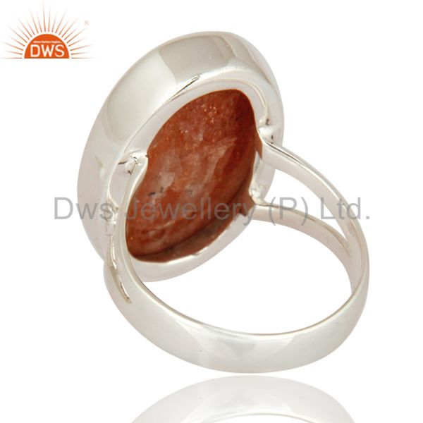 Suppliers Natural Sunstone Gemstone 925 Sterling Silver High Polish Ring - Fine Jewelry