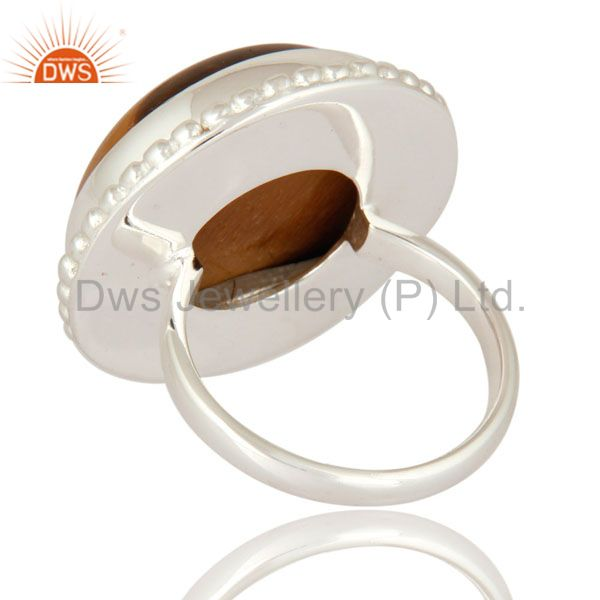 Suppliers Solid 925 Sterling Silver Natural Tigers Eye Gemstone Beautiful Ring