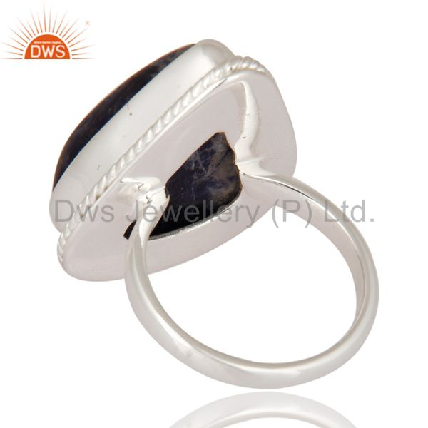 Suppliers Premium Quality Handmade 925 Sterling Silver Ring With Natural Sodalite Gemstone