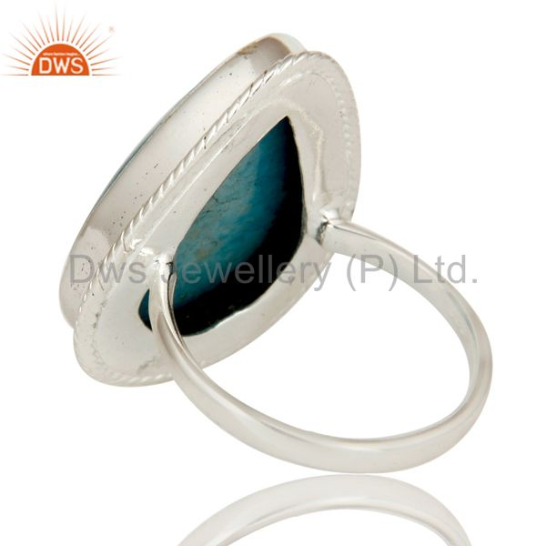 Suppliers Premium Quality Handmade 925 Sterling Silver Ring Natural Turquoise Gemstone