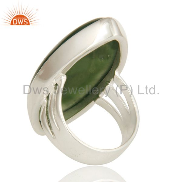 Suppliers Natural Vasonite Gemstone Bezel-Set Ring Made In Sterling Silver
