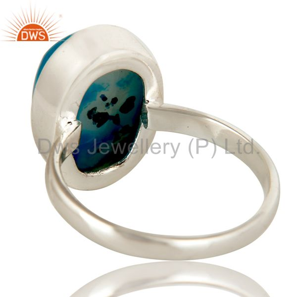Suppliers Natural Druzy Agate Oval Shape Genuine Sterling Silver Ring