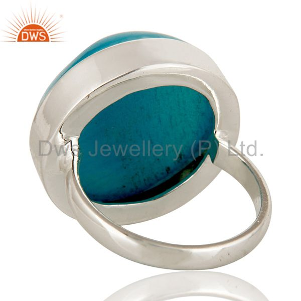 Suppliers Round Blue Agate Druzy Cocktail Ring In Solid Sterling Silver