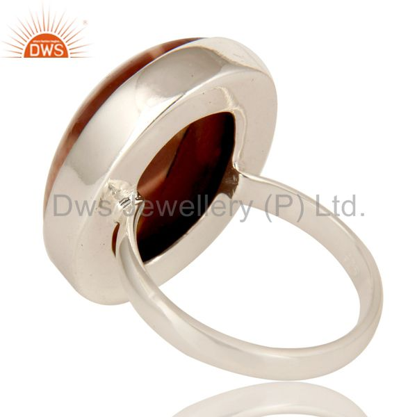 Suppliers Handmade Solid Sterling Silver Mookaite Gemstone Bezel Setting Statement Ring