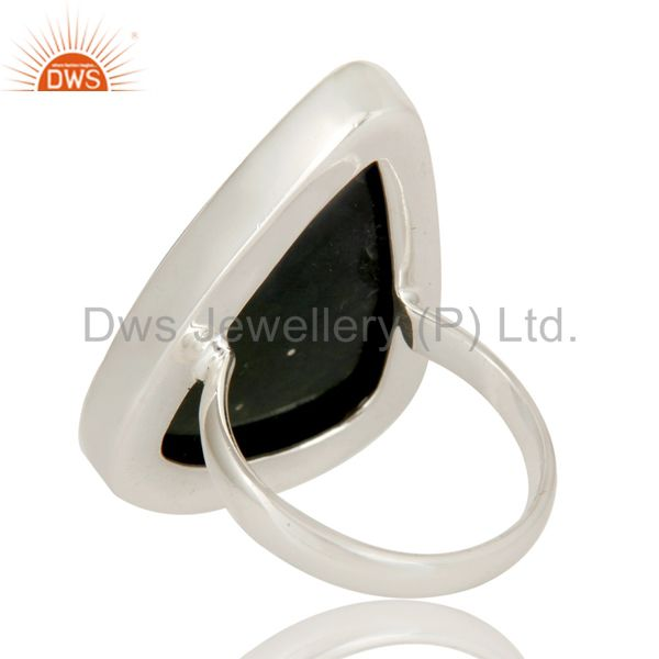 Suppliers Handmade Sterling Silver Ocean Jasper Gemstone Bezel Set Statement Ring
