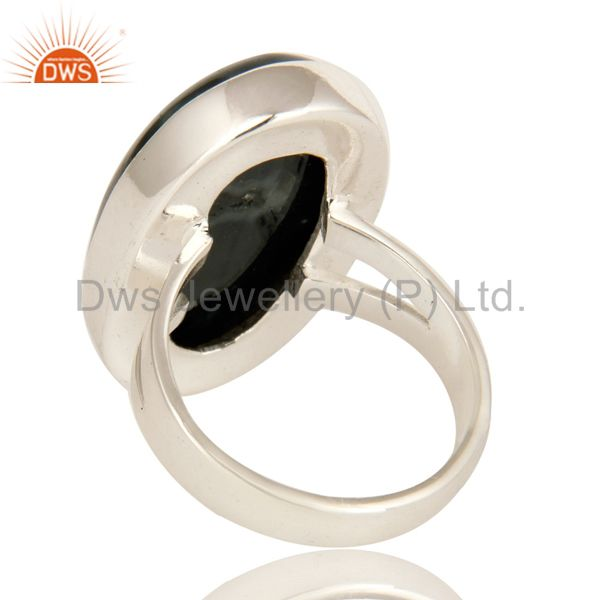 Suppliers Natural Ocean Jasper Gemstone Bezel Set Statement Ring In Sterling Silver