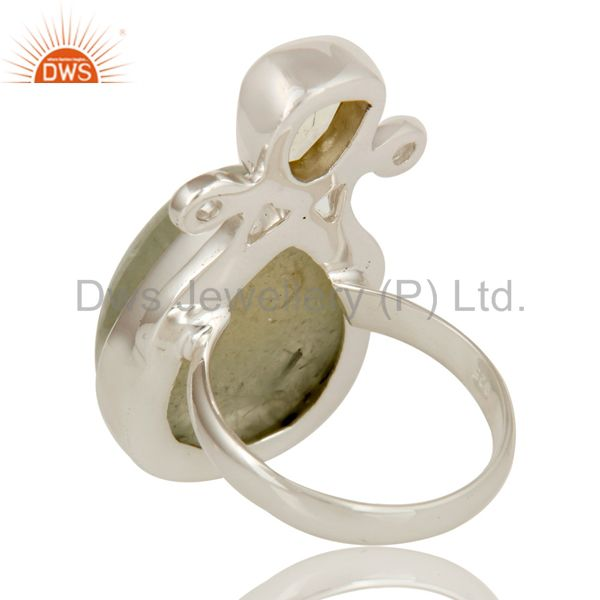 Suppliers Prehnite and Lemon Topaz Sterling Silver Gemstone Ring