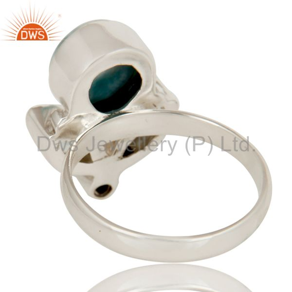 Suppliers Larimar, Green Amethyst and Blue Topaz Sterling Silver Gemstone Ring