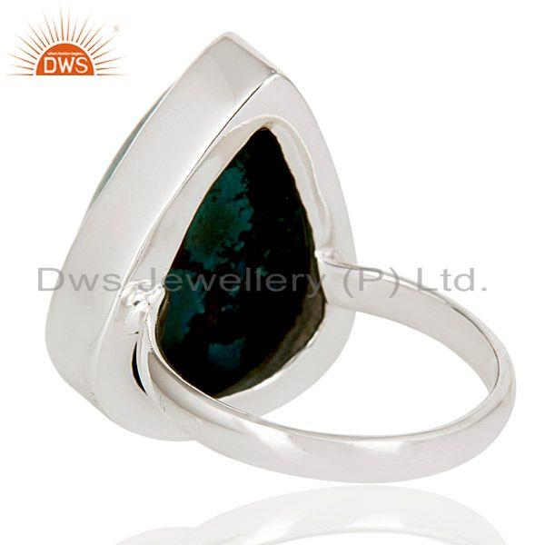 Suppliers Lovely Handmade Pear Cut Design Chrysocola 925 Sterling Silver Statement Ring