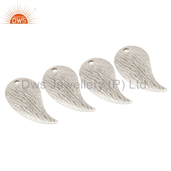 Suppliers 925 Sterling Silver Plated Brass Matte Finish Teardrop Charms Finding Jewelry