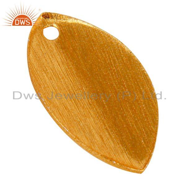 Suppliers 14K Yellow Gold Plated Brass Matte Finish Teardrop Finding Jewelry