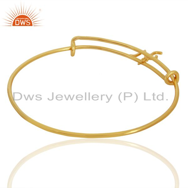 Suppliers Gold Plated N Initial Openable Adjustable Wholesale Fashion Bracelet Jewelry