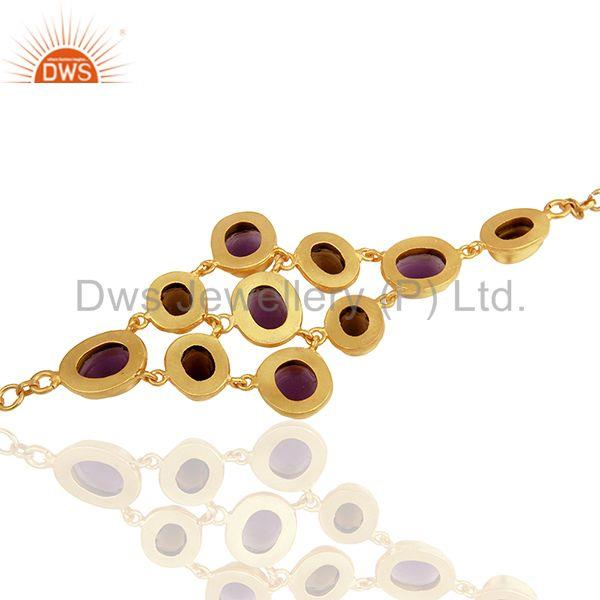 Suppliers Handmade Gold Plated Brass Fashion Gemstone Bracelet Manufacturers