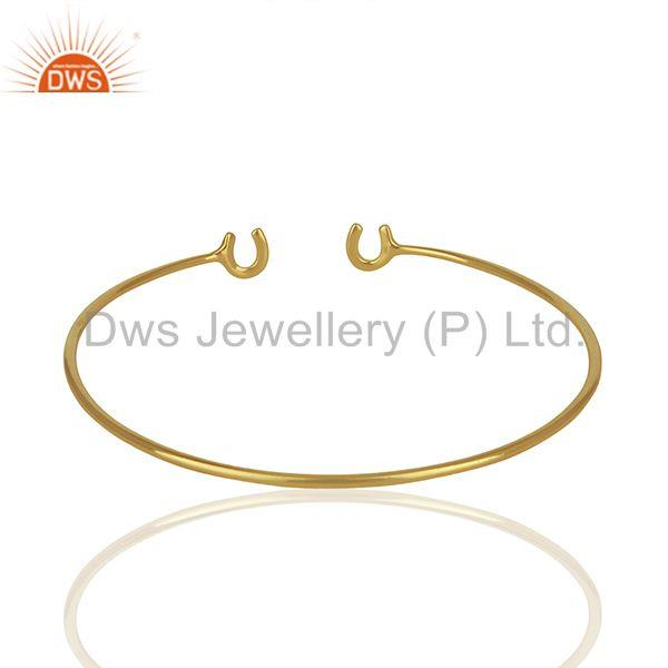 Suppliers Designer Gold Plated Fashion Cuff Bracelet Manufacturer India