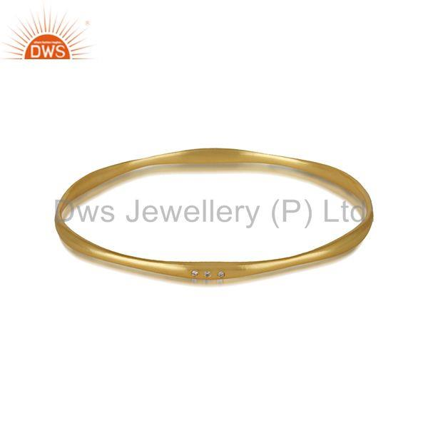 Wholesalers of Handmade gold plated brass fashion women bangles manufacturer