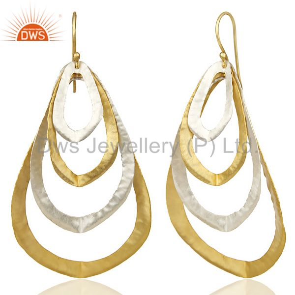 Suppliers 14K Gold Plated Silver Plated Traditional Handmade Fashion Dangle Earrings