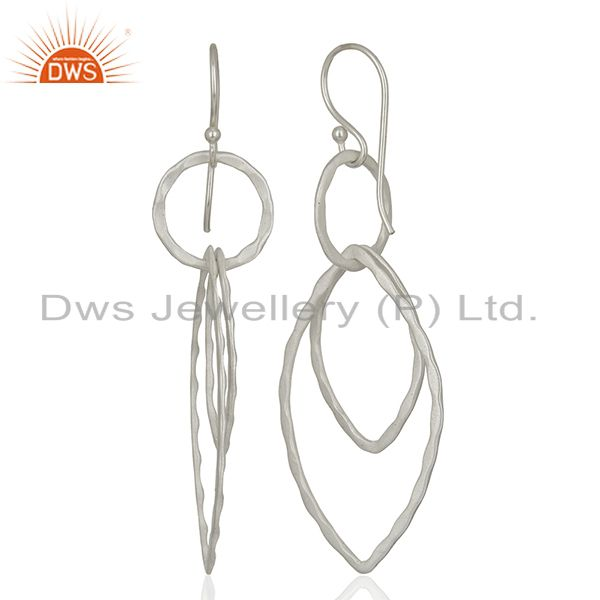 Suppliers 925 Sterling Silver Plated Brass Earring Jewelry Manufacturer Supplier