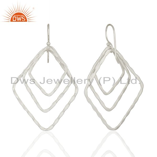 Suppliers Handmade Silver Plated Designer Brass Earrings Jewelry Supplier