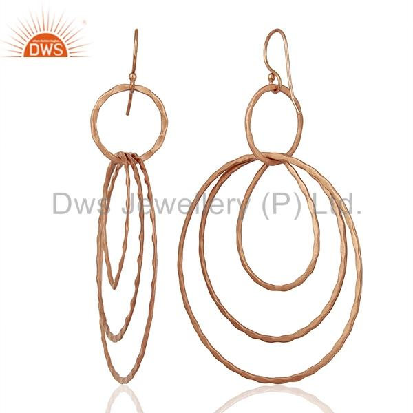Suppliers Rose Gold Plated Brass Fashion Earrings Jewelry Manufacturer Supplier