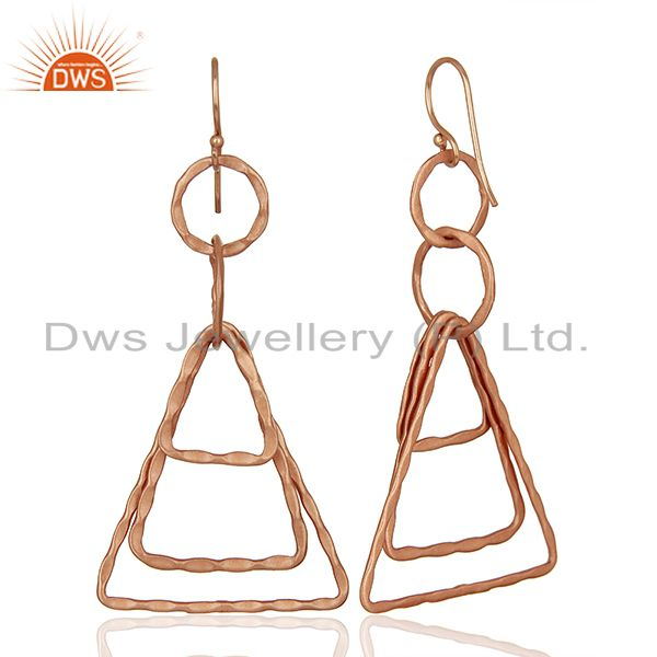 Suppliers Designer Rose Gold Plated Brass Fashion Earrings Jewelry Supplier