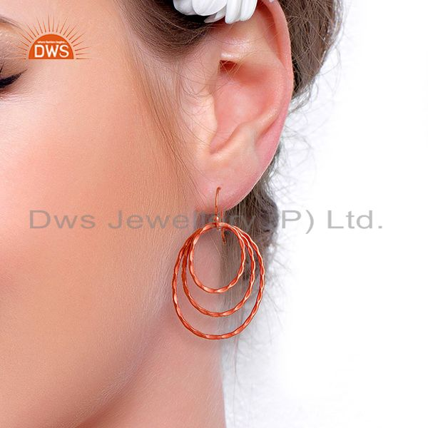 Suppliers Indian Designer Rose Gold Plated Fashion Earring Supplier Manufacturer