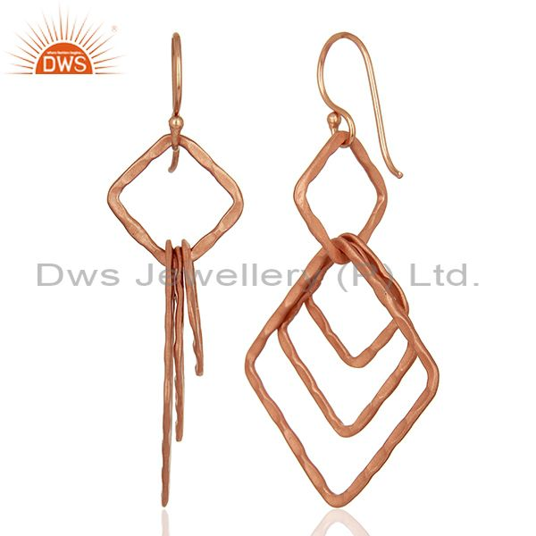 Suppliers Handmade Rose Gold Plated Fashion Girls Earrings Supplier Jewelry