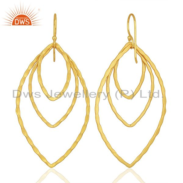 Suppliers Handmade Design Gold Plated Fashion Earrings Jewelry Supplier