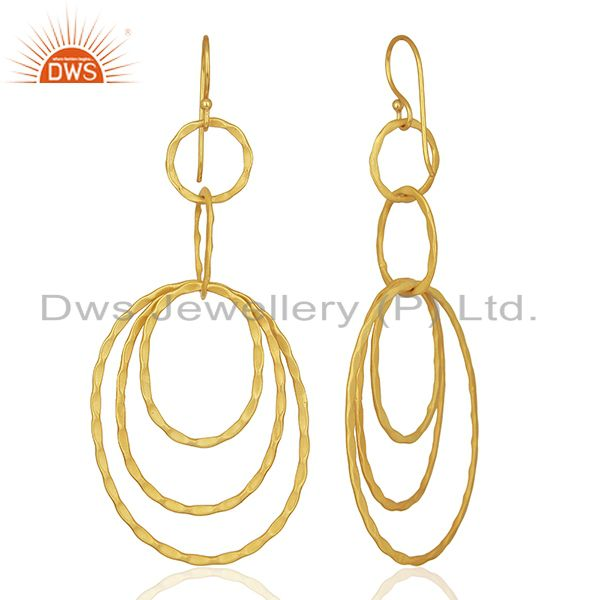 Suppliers Wholesale Gold Plated Designer Fashion Girls Earrings Manufacturer
