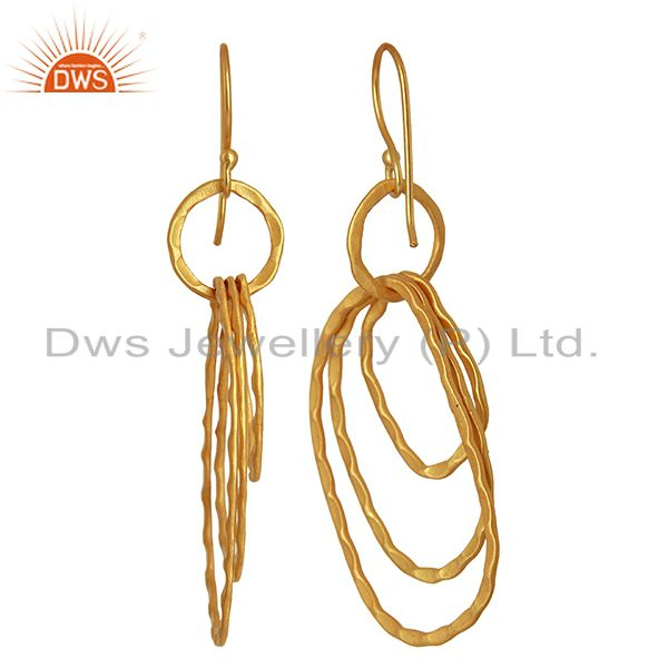 Suppliers Designer Gold Plated Womens Fashion Earrings Jewelry Wholesale