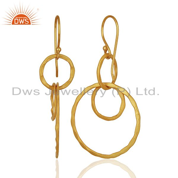 Suppliers New Arrival Gold Plated Brass Designer Fashion Earrings Supplier