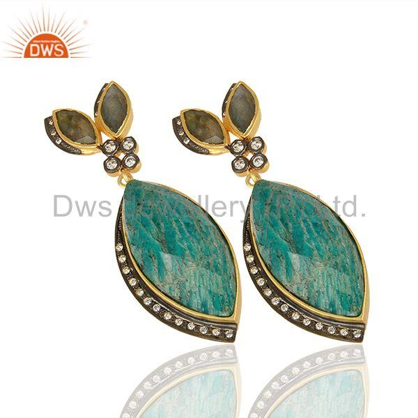 Suppliers Multi Gemstone Sterling Silver Gold Plated Fashion Earrings Supplier