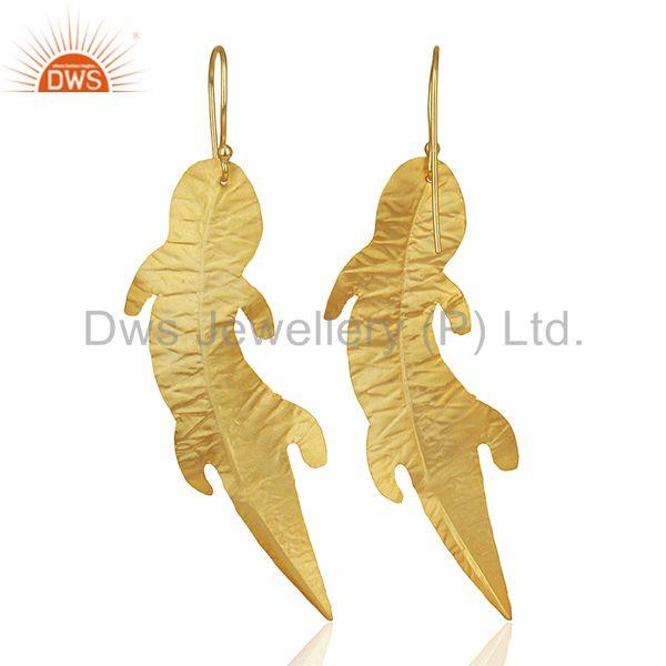 Suppliers Customized Gold Plated Brass Fashion Dangle Earrings Manufacturer