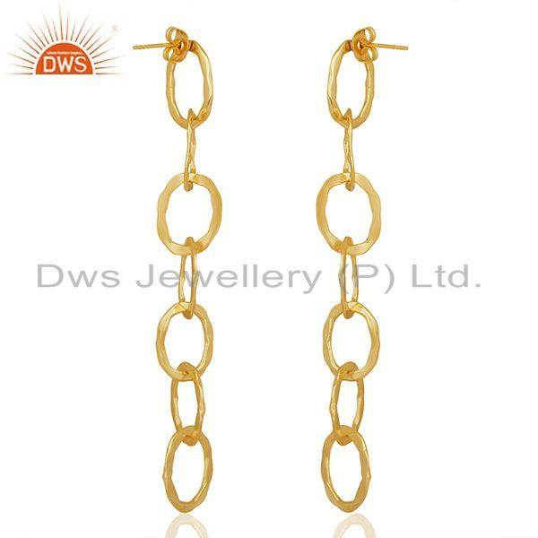 Suppliers Chain and Link Design Gold Plated Fashion Earrings Manufacturer