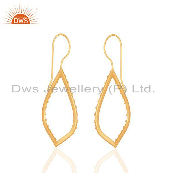 Suppliers Indian Handcrafted Brass Gold Plated Fashion Earrings Manufacturer