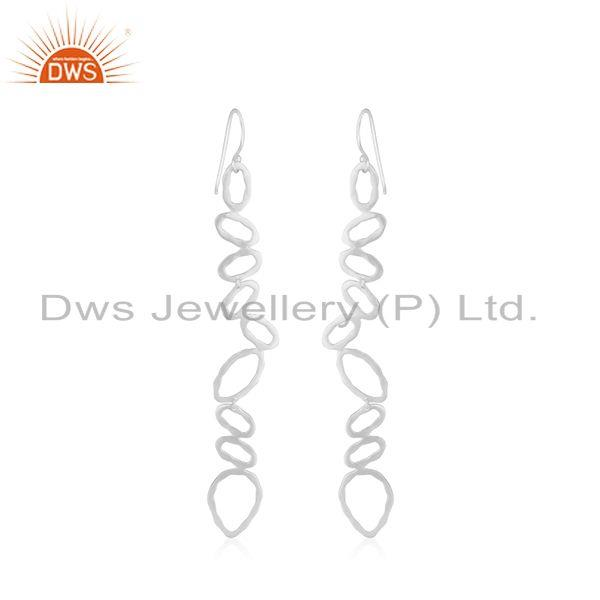 Suppliers Silver Plated Designer Brass Fashion Earrings For Girls Jewelry