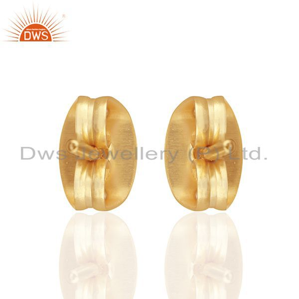 Suppliers Round Ball Design Gold Plated Brass Fashion Girls Stud Earring