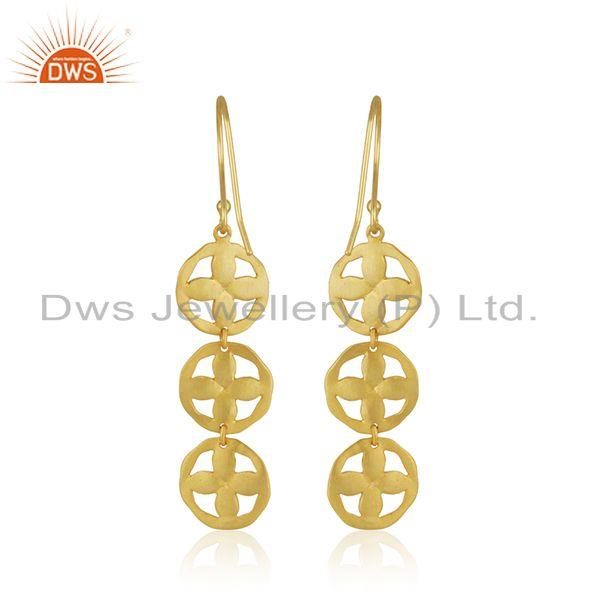 Suppliers Handmade Gold Plated Brass Fashion Earring Jewelry Supplier