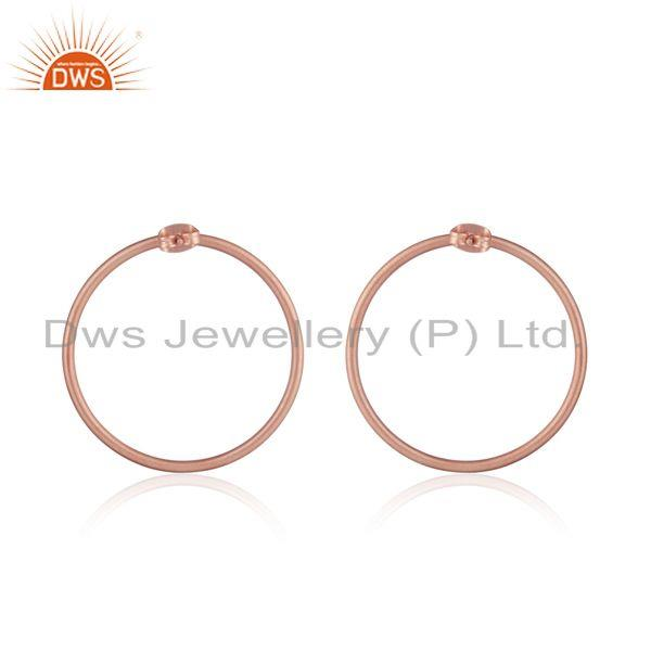 Designer of Midi circle design rose gold plated brass fashion earrings jewelry