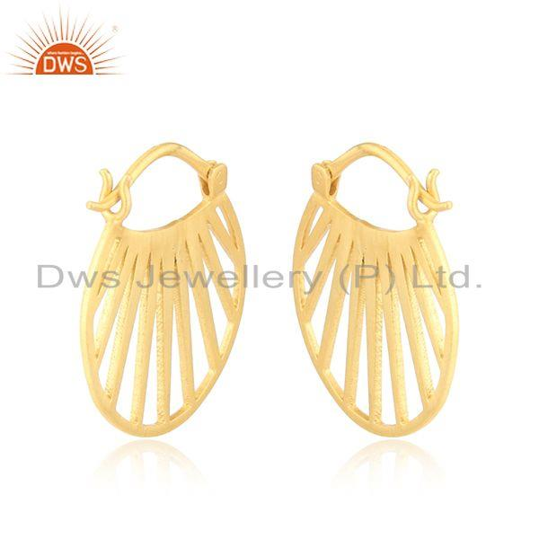 Designer of Designer fan hoop fashion jewelry with yellow gold plating