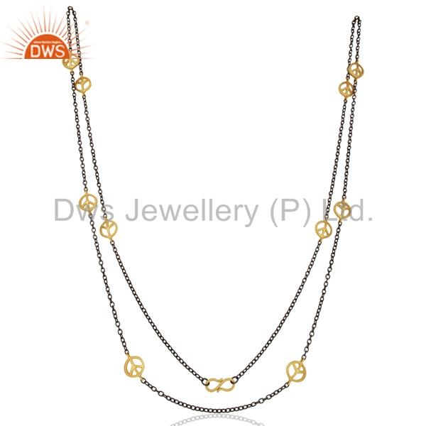 Suppliers Designer Womens Gold Plated Brass Chain Necklace Jewelry Manufacturer